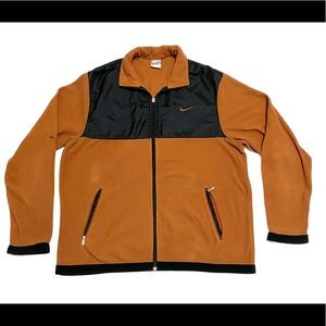 Vintage Y2K Burnt Orange Nike Fleece
